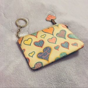 Dooney and Bourke hearts wallet wristlet
